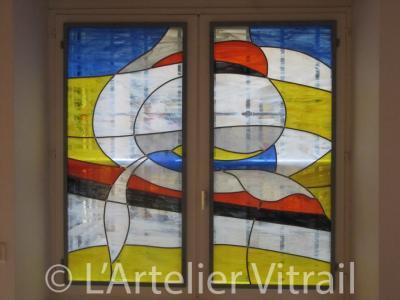 Vitrail Saint Jean L'Art-Elier - Fabrication de vitrages et miroirs - Lyon