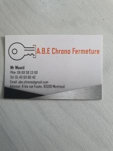 Abe Chrono Fermeture - Portes et portails - Montreuil