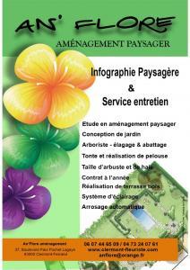 An'Flore S.A.R.L et E.I.R.L An'Flore aménagements Paysager - Aménagement et entretien de parcs et jardins - Clermont-Ferrand