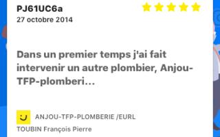 Anjou-tfp-plomberie eurl Toubin François Pierre