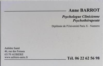 Barrot Anne - Psychologue - Aubière