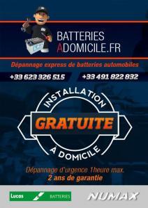 Batteries à Domicile - Pièces et accessoires automobiles - Marseille