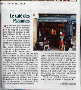 Café des Psaumes - Association humanitaire, d'entraide, sociale - Paris