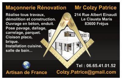 Colzy Patrice - Entreprise de maçonnerie - Fréjus