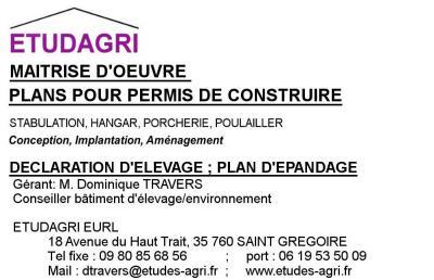 Etudagri - Constructions agricoles - Saint-Grégoire