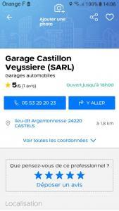 Garage Castillon Veyssiere SARL - Garage automobile - Castels-et-Bézenac