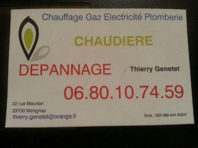 Genetet Thierry - Dépannage de chauffage - Pessac