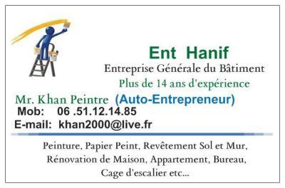 Hanif Mohammad - Entreprise de peinture - Meaux
