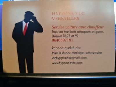 Versailles vtc Hyppone VTC - Chauffeur d'automobiles - Guyancourt
