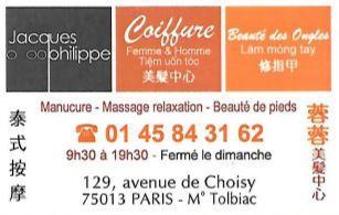 Jack Philippe Coiffure SARL - Coiffeur - Paris