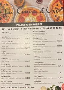 La Conca d'Oro - Restaurant - Vincennes