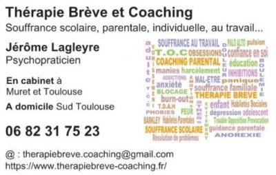 Thérapie brève et coaching Jérôme Lagleyre - Psychothérapie - pratiques hors du cadre réglementé - Muret