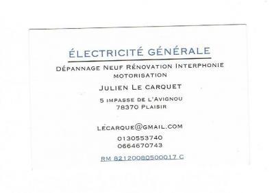 Le Carquet Julien - Entreprise d'électricité générale - Plaisir