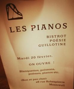 Les Pianos - Restaurant d'entreprises et collectivités - Montreuil