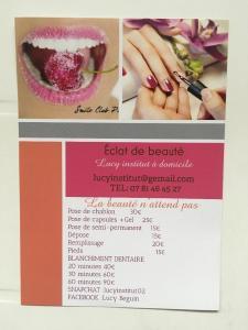 Lucy institut ongle blanchiment dentaire à domicile - Institut de beauté - Autreville