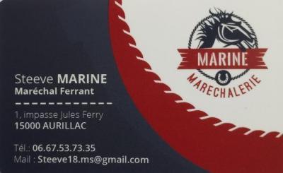 Marine Steeve Maréchalerie - Forgeron et maréchal-ferrant - Aurillac