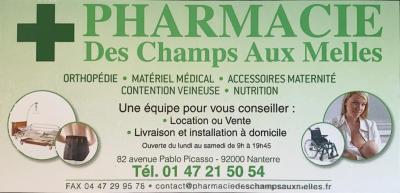 Pharmacie Des Champs Aux Melles - Pharmacie - Nanterre