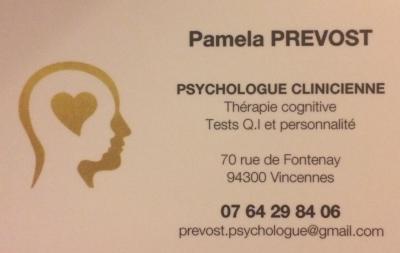 Pamela Prevost - Psychologue - Vincennes