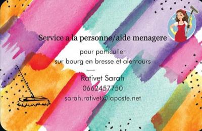 Rativet sarah - Ménage et repassage à domicile - Bourg-en-Bresse