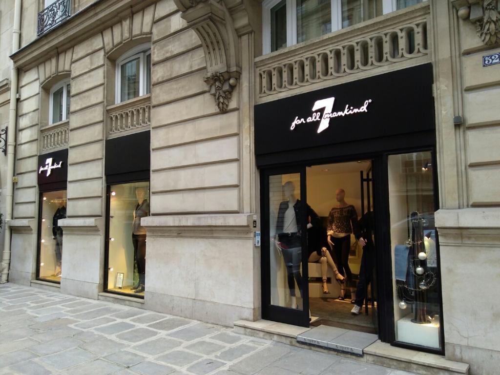 7 For All Mankind Paris - Magasins de vêtement