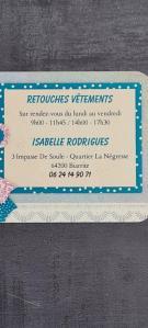 Tavares Rodrigues Isabelle - Couture et retouches - Biarritz