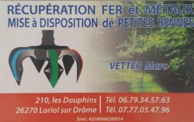 Vetter Marc - Collecte et recyclage de déchets de fers et métaux - Loriol-sur-Drôme